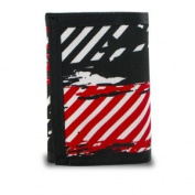 Generic Trifold Splatter and Stripes Canvas Wallet. General Merchandise / General Merchandise)