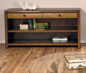 American Drew Grove Point 2 Drawer Console Table In Soft Khaki