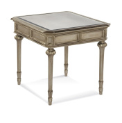 Bassett Mirror Palazzina Rectangle End Table In Champaign Silver