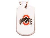 Ohio State Buckeyes Dog Tag Domed Necklace Charm Chain Ncaa Ohio State Buckeyes Dog Tag Domed Neckl