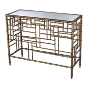 Sterling Industries 6043722 Laos - 80cm Console Table, Antiqued Gold Wash Finish