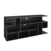 WE Furniture Wood Modern Style TV Stand, 150cm , Black