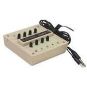 Califone 1218AVPY 8-Position Monaural Jackbox with Volume Controls