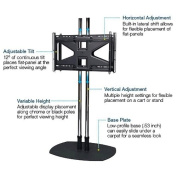 Dual Pole Floor Stand with Back-to-Back Adapter and Two Tilting Mounts