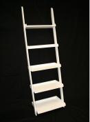 5-Tier Leaning Wall Shelf Ladder Shelf in White