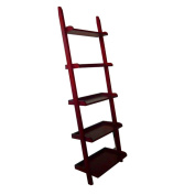 Mintra Cherry Finish 5-Tier Ladder Book Shelf