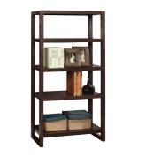 Furniture of America Breatrix 5-Tier Bookshelf, Espresso