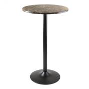Cora Round Pub Table, Black