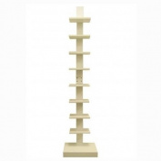Proman Products Spine Standing Book Shelves in White