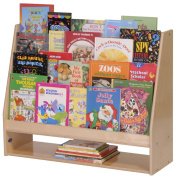 Steffy Wood Products 4-Shelf Book Display with Lower Storage