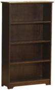 Atlantic Furniture Windsor 4 Tier Bookshelf, Antique Walnut