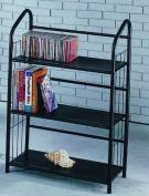 Book Shelves 3 Tier Metal Book Shelves - Black