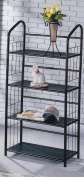 Book Shelf 4 Tier Metal Book Shelves - Black