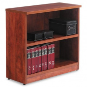 Aleraamp;reg; - Valencia Series Bookcase, 2 Shelves, 31-3/4w x 12-1/2d x 29-1/2h, Medium Cherry - Sold As 1 Each - Contemporary design; woodgrain laminate construction.