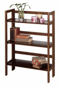 Book Case Shelf -3- Shelvers Foldable Antique Walnut Finish