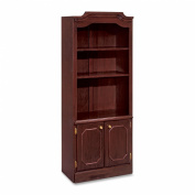 DMi Governor.s Series Bookcase w/Doors, 3 Shelves, 30 W by 14 D by 74 H, Mahogany