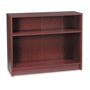 HON® - 1870 Series Bookcase, 2 Shelves, 36w x 11-1/2d x 29-7/8h, Mahogany - Sold As 1 Each - Durable, long-lasting laminate.