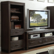 Riverside Furniture Promenade Etagere Bookcase Pier in Warm Cocoa