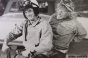 Dumb and Dumber Movie Harry and Lloyd on Scooter Poster Print