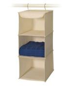 Richards Homewares 3 Shelf Sweater Organiser - Canvas/Natural