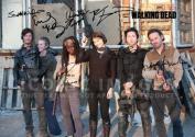 The Walking Dead Season 4 Cast Tv Print (11.7 X 8.3) Signed (Pre-print Autograph) Andrew Lincoln Norman Reedus Danai Gurira Steven Yeun Daryl Dixon