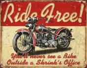 Ride Free Motorcycle Distressed Retro Vintage Tin Sign