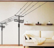 Electric Poles and Birds Repositional Wall Decal