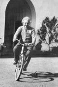 Albert Einstein Bicycle Art Poster Print