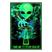 Take Me To Your Dealer College Blacklight Poster 60cm x 90cm