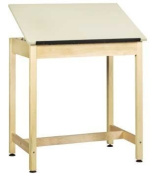 Diversified Woodcrafts DT-9A37 UV Finish Solid Maple Wood Art/Drafting Table with 1 Piece Top, Plastic Laminate Top, 90cm Width x 90cm Height x 60cm Depth