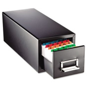 Drawer Card Cabinet Holds 1,500 4 x 6 cards, 8 7/8 x 18 1/8 x 8