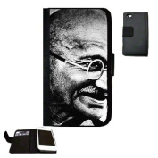 Ghandi Fabric iPhone 4 Wallet Case Great Gift Idea