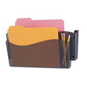 NEW - Unbreakable 4-in-1 Wall File, Two Pocket, Plastic, Smoke - 8141