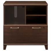 BUSH BUSINESS FURNITURE Bush Industries Achieve Collection Lateral File/Printer Stand in Cherry Finish