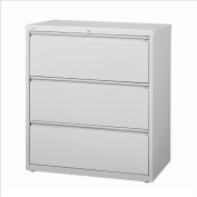 Hirsh Industries LLC 10000 Series Lateral 80cm Wide 3 Drawer File Cabinet in Grey