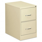 OIF Two Drawer Economy Vertical File Cabinet, 46cm Width by 70cm Depth by 70cm Height, Putty