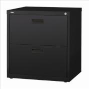 Hirsh Industries LLC 1000 Series Lateral 80cm Wide 2 Drawer File Cabinet in Black