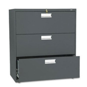 HON 683LS - 600 Series Three-Drawer Lateral File, 36w x19-1/4d, Charcoal