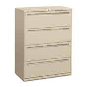 HON 700 Series Four-Drawer Lateral File, 36w x 19-1/4d, Charcoal