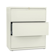HON COMPANY * 800 Series Three-Drawer Lateral File, 36w x 19-1/4d x 40-7/8h, Putty, Sold as 1 Each
