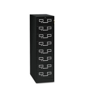 Tennsco - 8-Drawer File Cabinet For 3 x 5 & 4 x 6 Cards, 15w x 52h, Black - Sold As 1 Each - 43400card capacity.