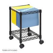 Safco 5277BL Compact Mobile Wire File Cart, 1-Shelf, 15-1/2 x 14d x 19-1/2h, Black