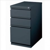 Hirsh Industries 50cm Deep Box-Box-File Mobile Pedestal in Charcoal