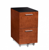 BDI Sequel 2-Drawer Mobile File Pedestal 6005 - Natural Stained Cherry