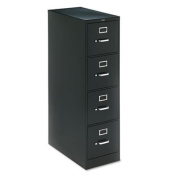HON COMPANY * H320 Series Four-Drawer, Full-Suspension File, Letter, 70cm - 1.3cm Deep, Black, Sold as 1 Each
