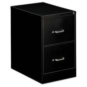 OIF Two Drawer Economy Vertical File Cabinet, 46cm Width by 70cm Depth by 70cm Height, Black
