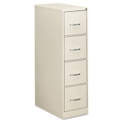 Four-Drawer Economy Vertical File, 15w x 26-1/2d x 52h, Light Grey