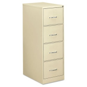 OIF - Four-Drawer Economy Vertical File, 18-1/4w x 26-1/2d x 52h, Putty - Sold As 1 Each - Wire follower block keeps files upright.