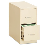 OIF - Two-Drawer Economy Vertical File, 15w x 26-1/2d x 29h, Putty - Sold As 1 Each - Wire follower block keeps files upright.