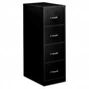 OIF Four Drawer Economy Vertical File Cabinet, 46cm Width by 70cm Depth by 130cm Height, Black